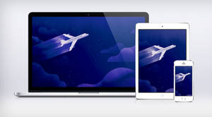 Google I/O Night Plane Wallpaper Material Design by JasonZigrino
