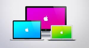 Apple Logo Material Design Desktop by JasonZigrino