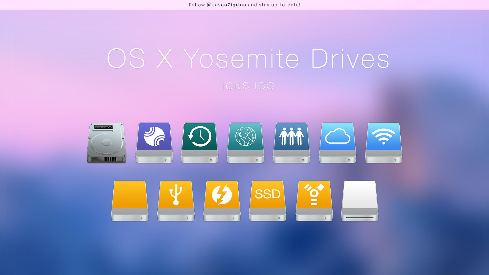 OS X Yosemite Drives by JasonZigrino