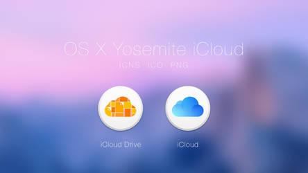OS X Yosemite iCloud Icons