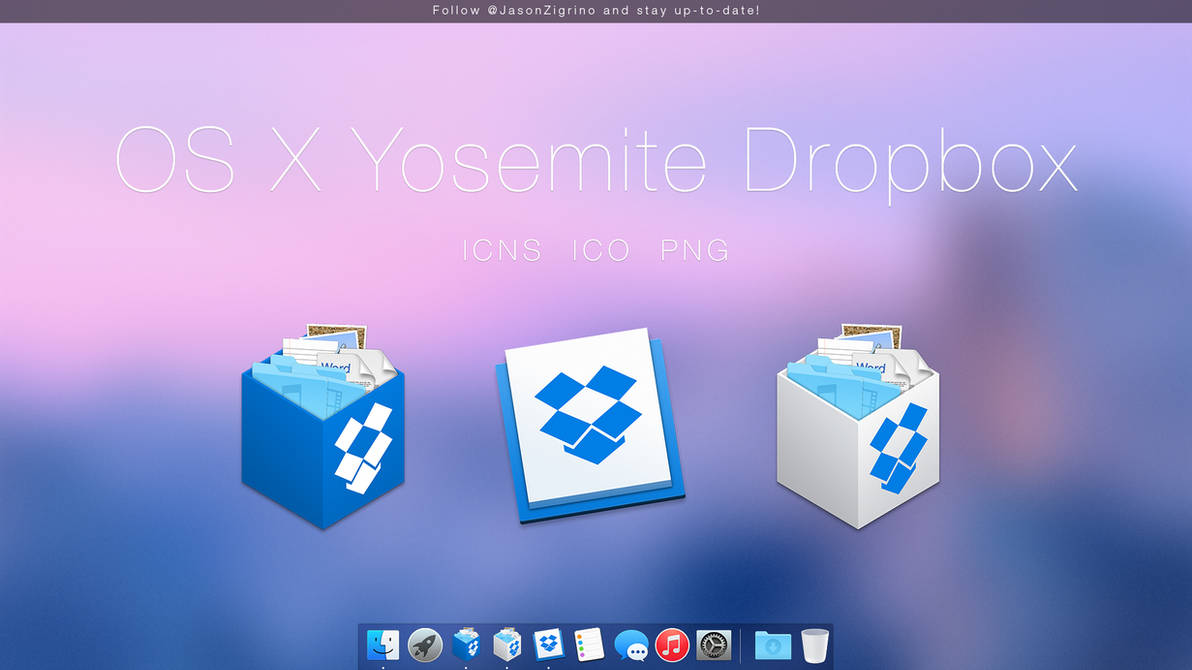 Dropbox Icons for OS X Yosemite by JasonZigrino