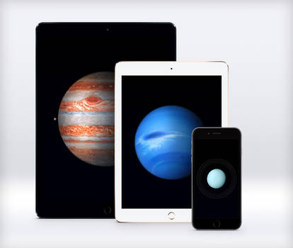 Apple Planets Wallpapers