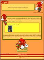 Knuckles the Echidna Journal Skin by DrTrueBlueJS