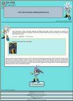 Silver The Hedgehog Journal Skin by DrTrueBlueJS