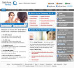 Web Template for Acne product