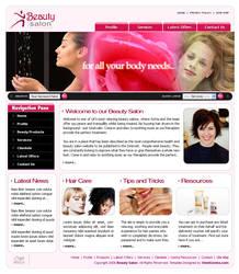 Web Template for a salon by konnekt