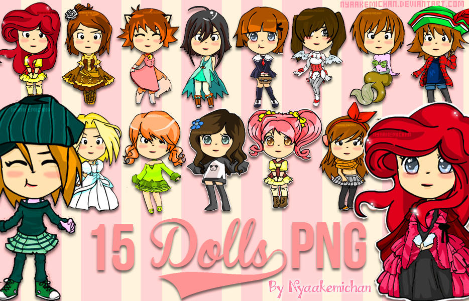 Pack Dolls PNG by NyaAkemiChan