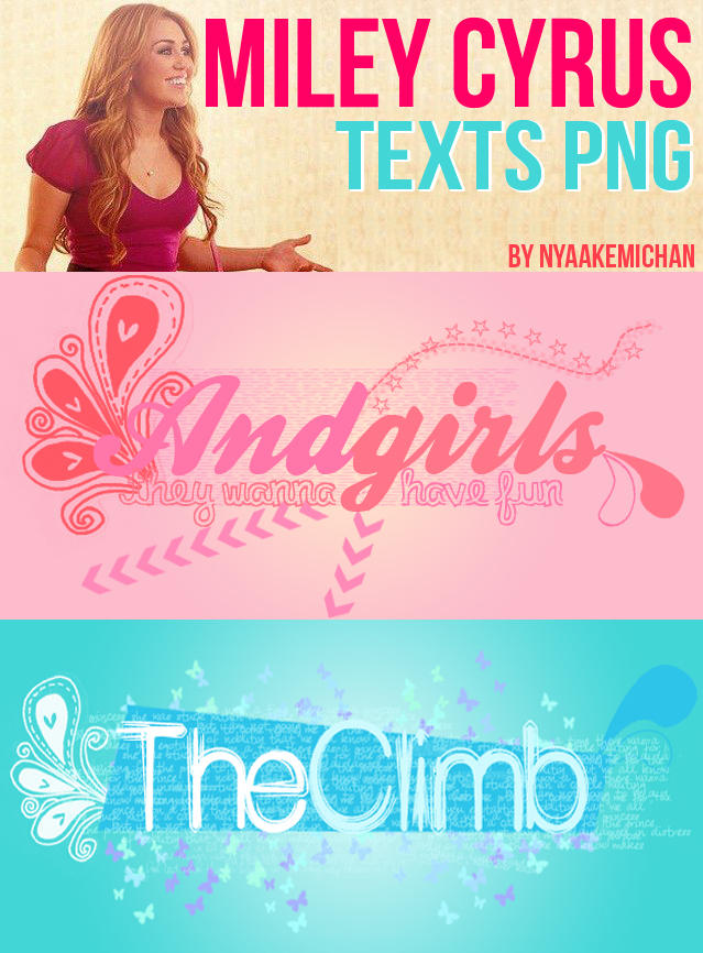 Texts Miley Cyrus PNG by NyaAkemiChan