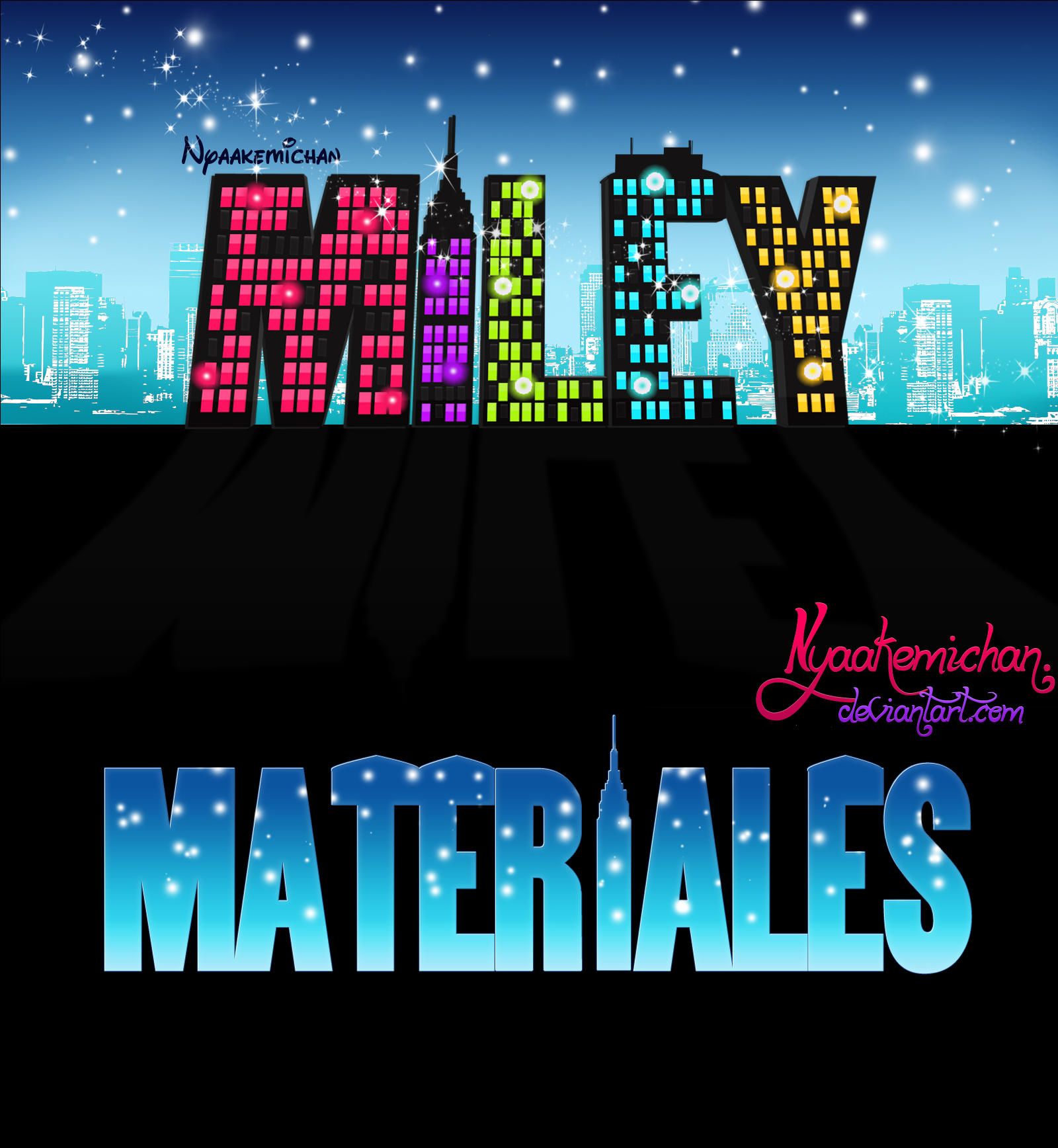 Materiales Texto Tipo ''Jessie'' by NyaAkemiChan