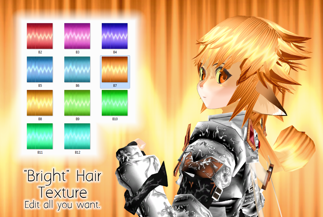 Bright Hair -MMD Texture- by PiosanK
