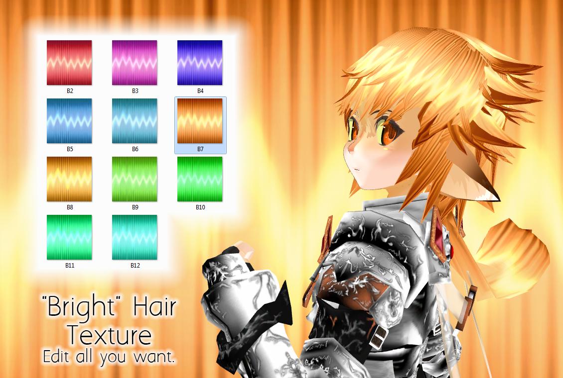 Bright Hair -MMD Texture- by PiosanK