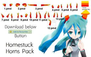 MMD DOWNLOAD - Homestuck Horn Pack by PiosanK