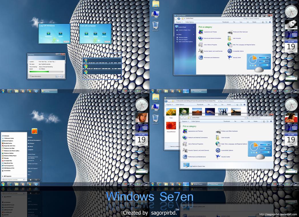 Windows Se7en with Superbar by sagorpirbd