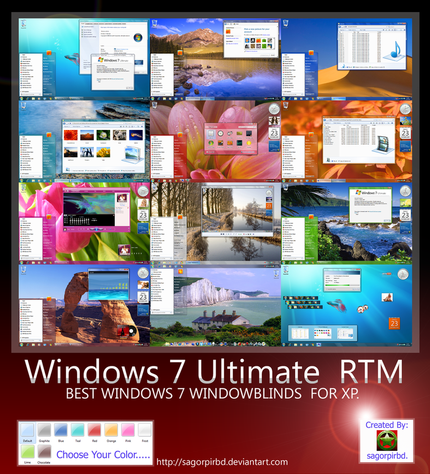 Windows 7 Ultimate RTM by sagorpirbd