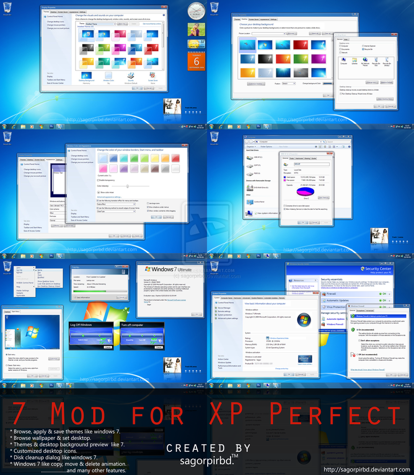 Windows 7 Mod for XP Perfect by sagorpirbd