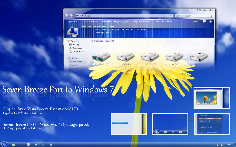 Seven Breeze Port To Windows7 by sagorpirbd