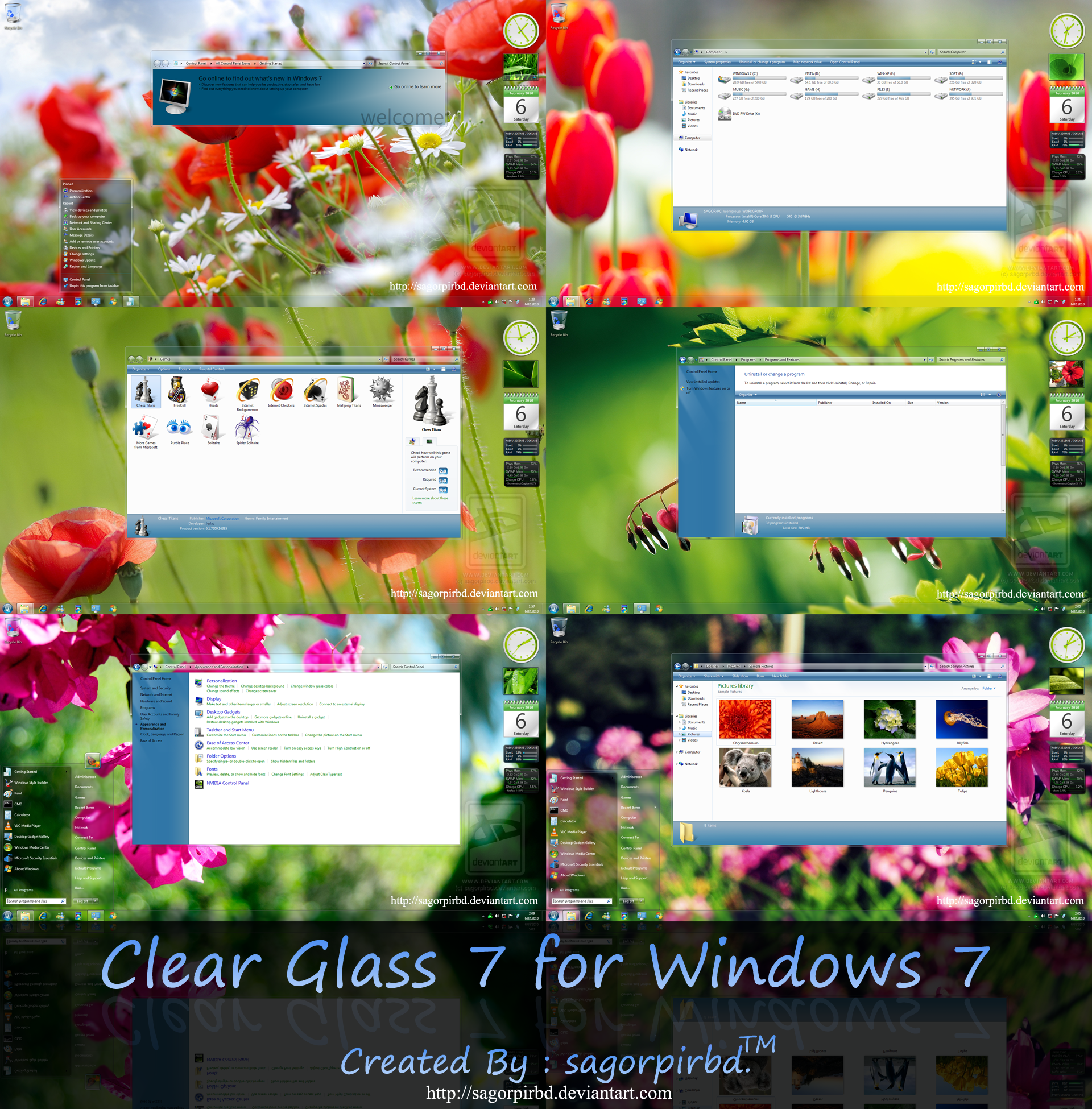 Clear Glass 7 for Windows 7