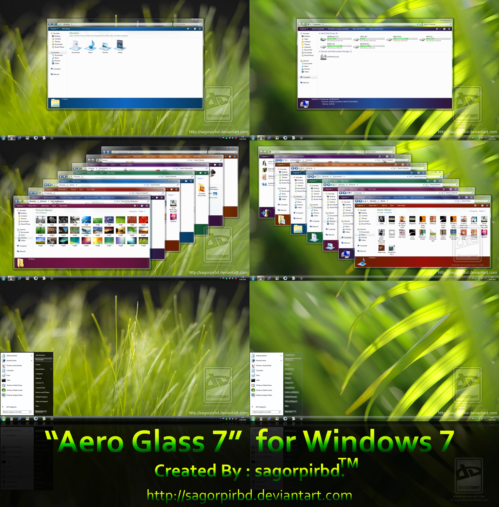 Aero Glass 7 for Windows 7 by sagorpirbd