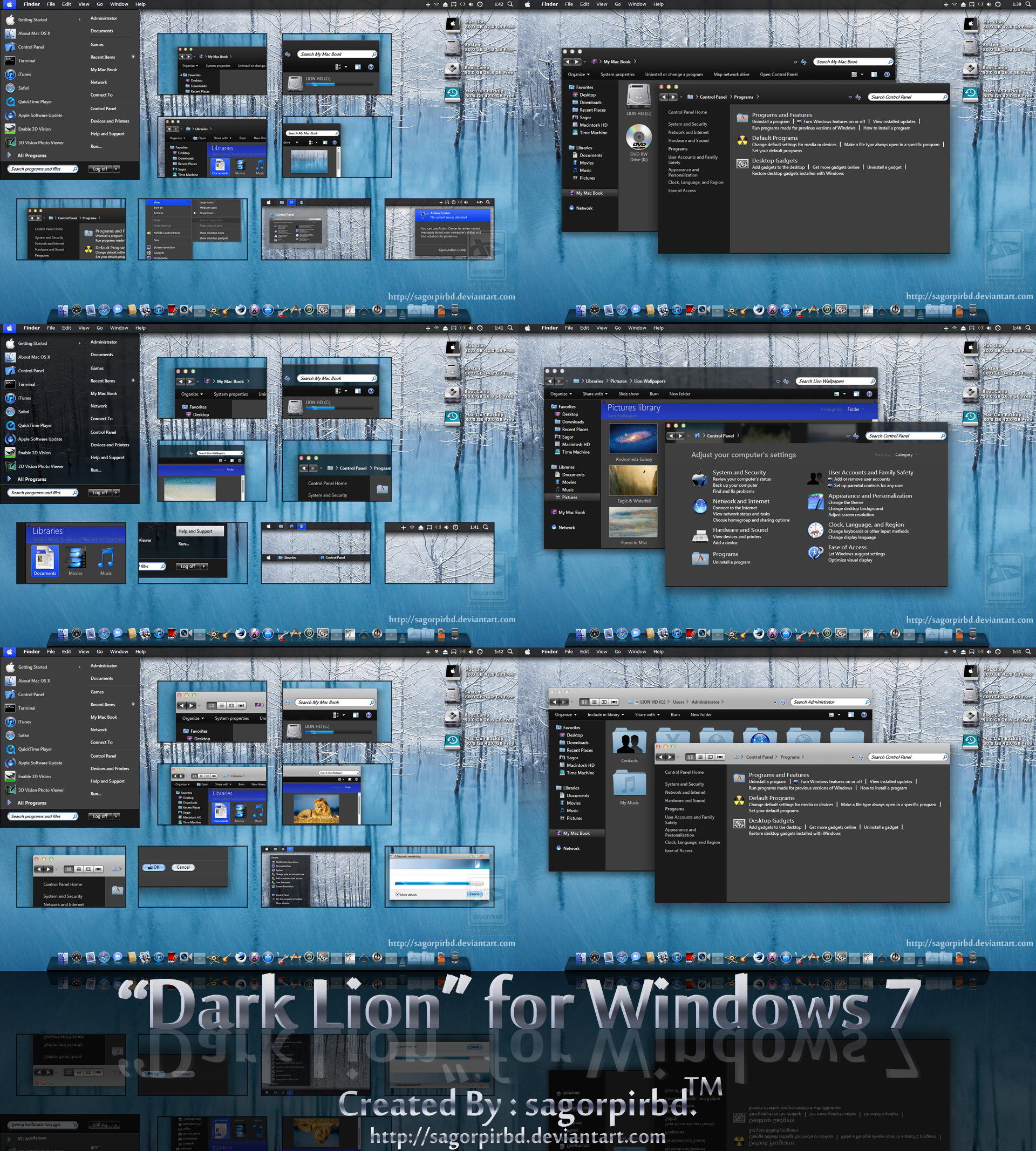 Dark Lion for Win 7 FINAL by sagorpirbd