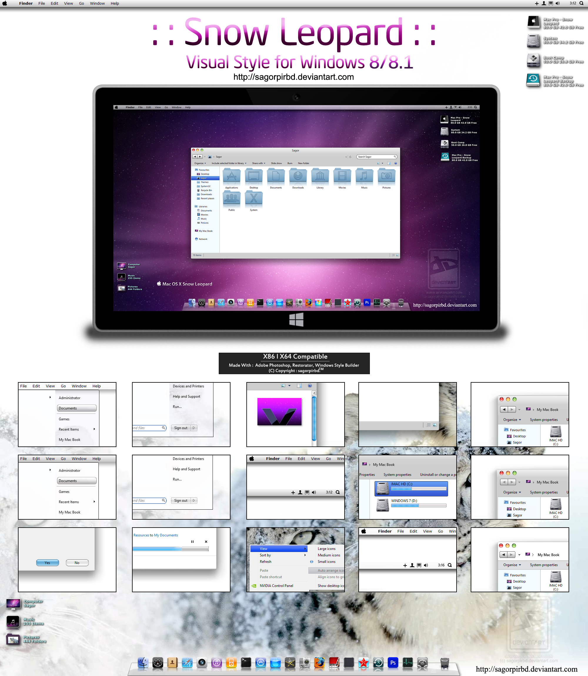 :: Snow Leopard :: for Win 8/8.1 Final by sagorpirbd