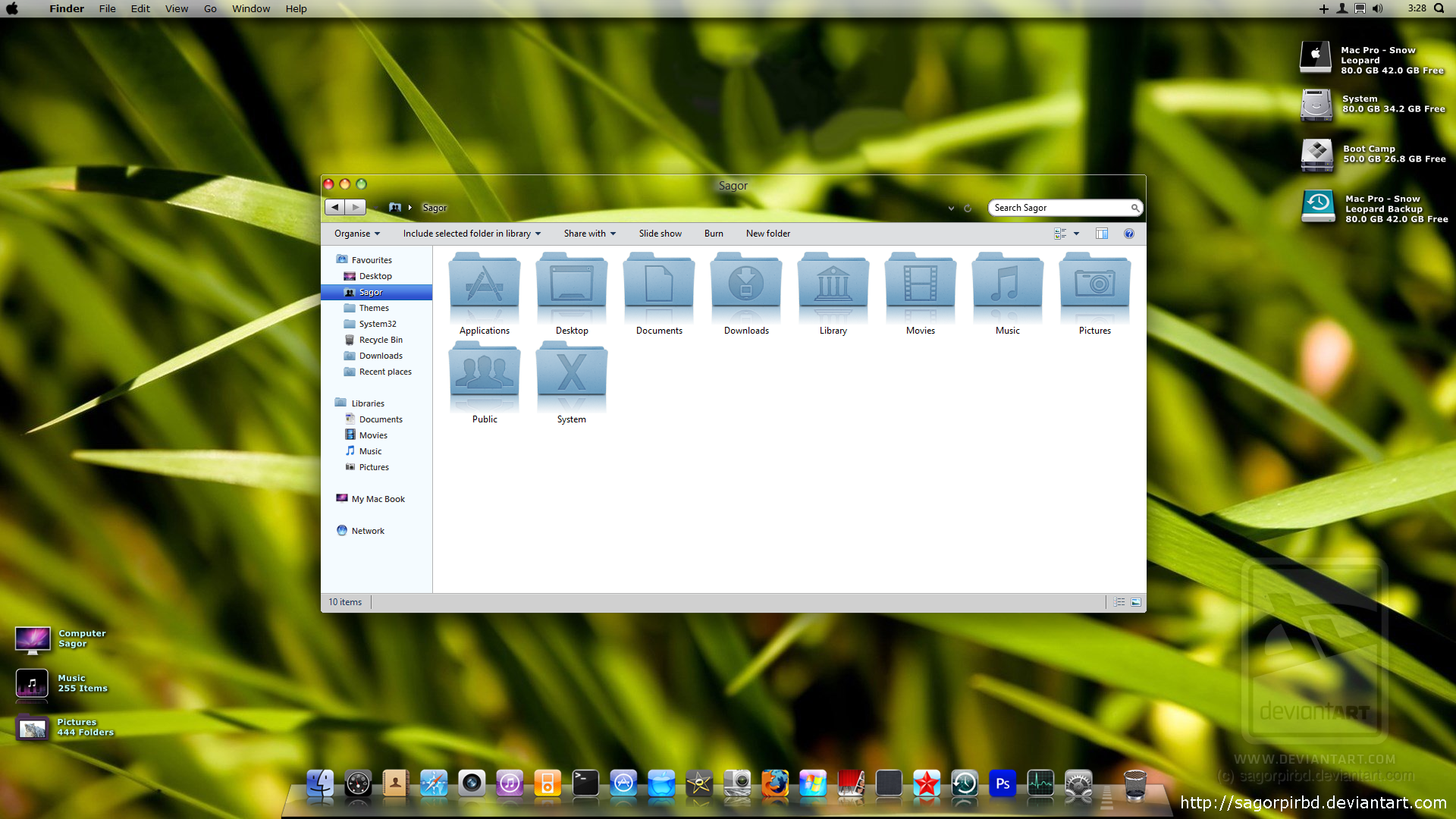 Snow Leopard Glass for Win 8/8.1