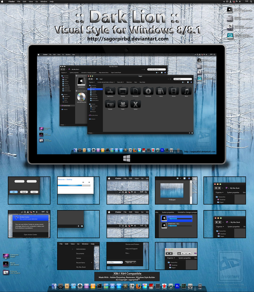 :: Dark Lion :: for Win 8/8.1 Final by sagorpirbd