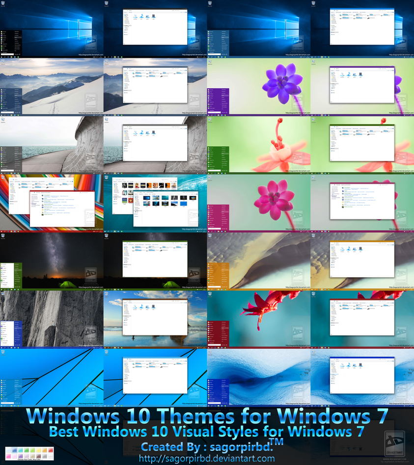 windows 10 themes for win 7 final by sagorpirbd on deviantart