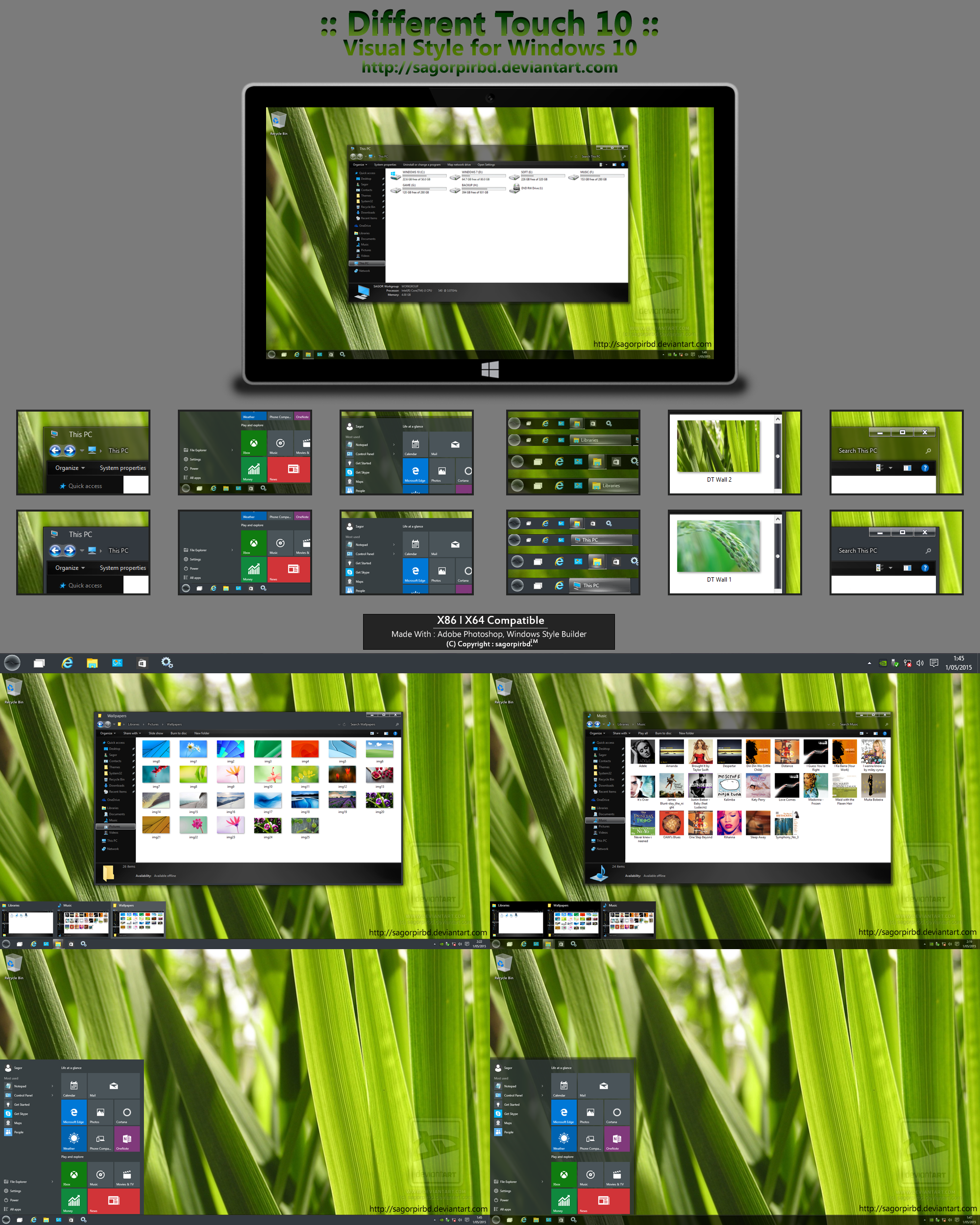 :: Different Touch 10 :: for Win10