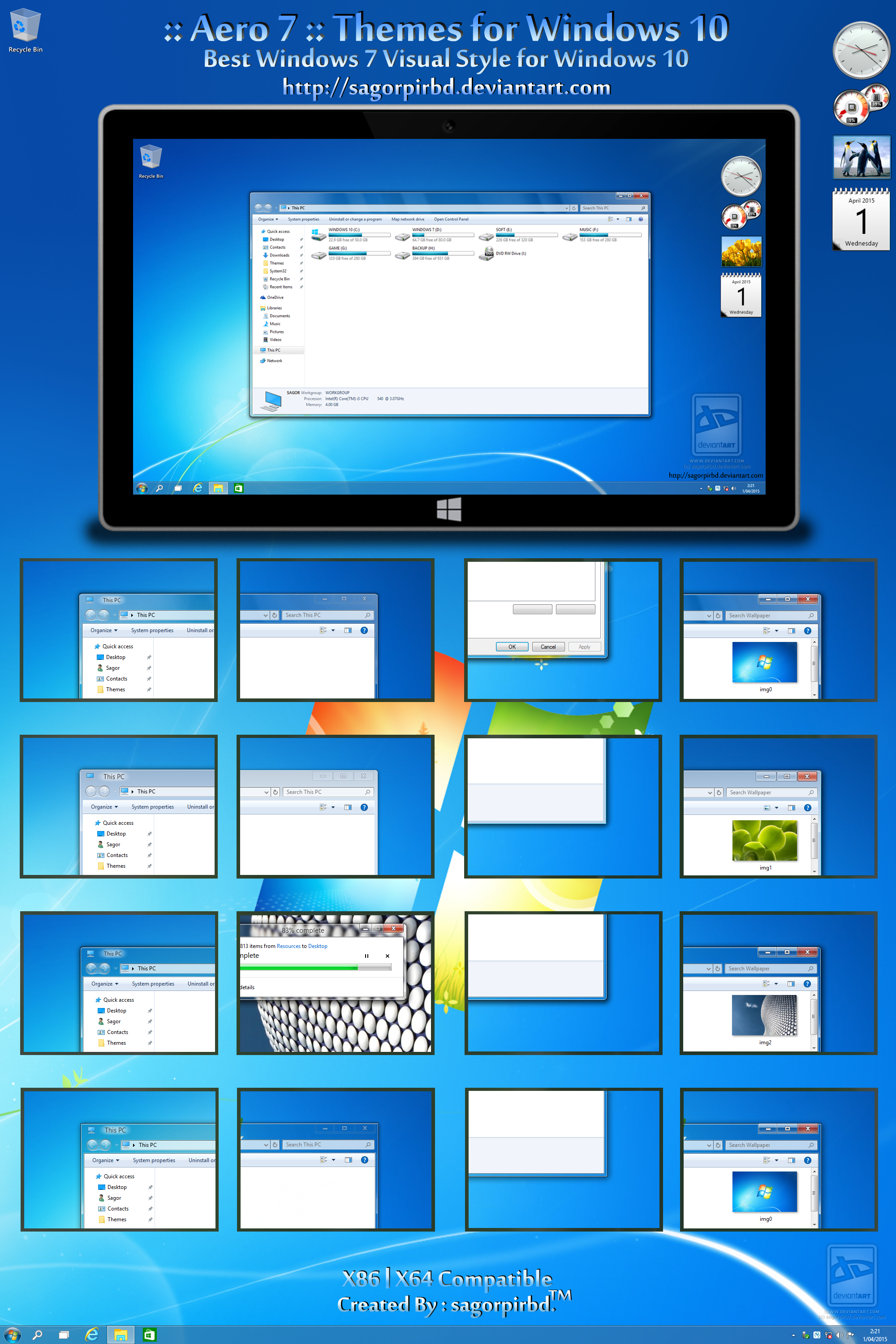 Aero 7 Themes for Win10 Final by sagorpirbd on DeviantArt