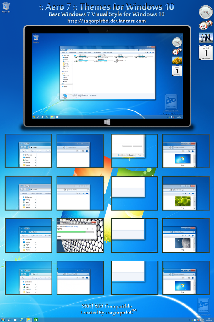 temi aero windows 7