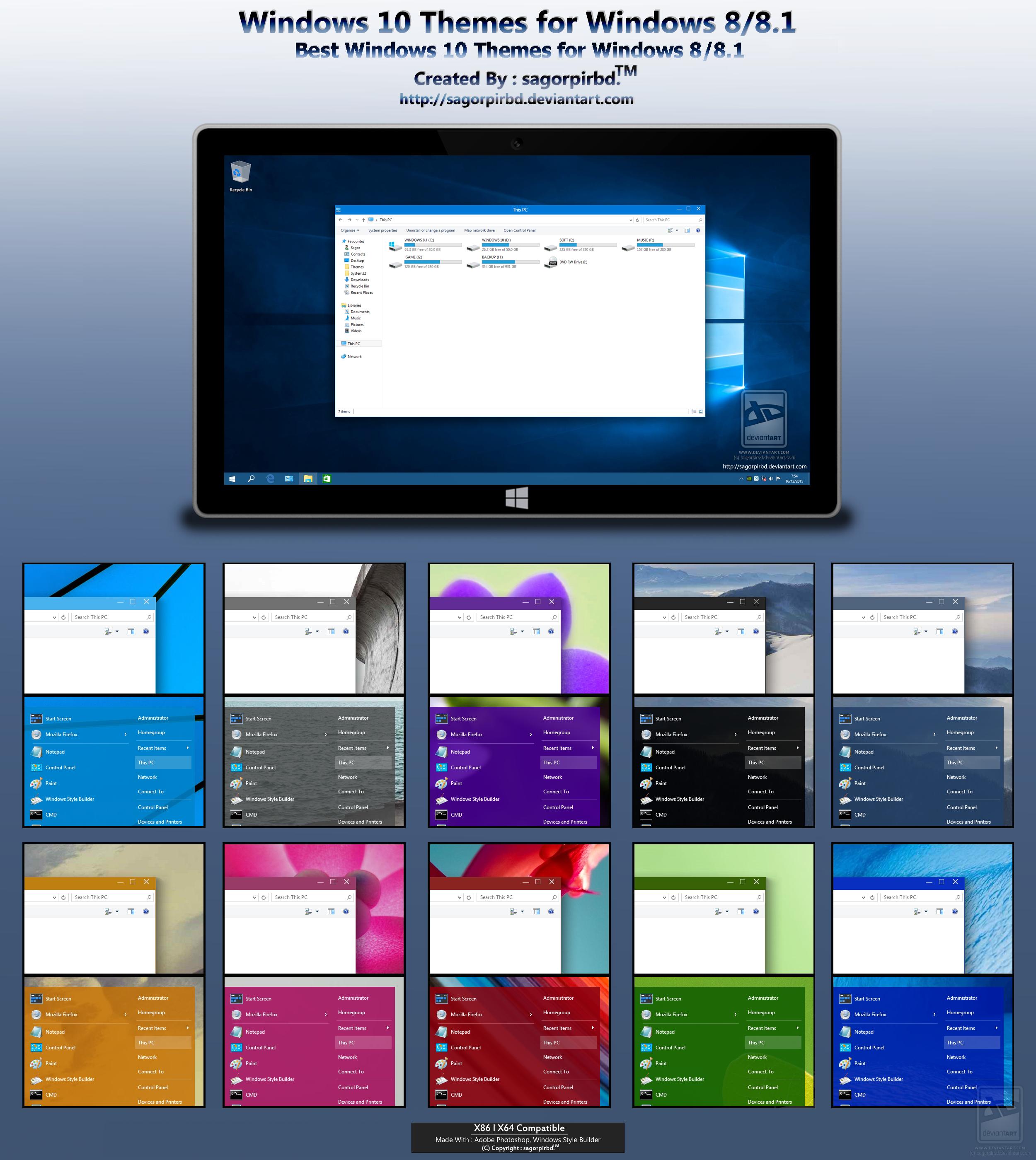 windows 10 themes 2017 free download