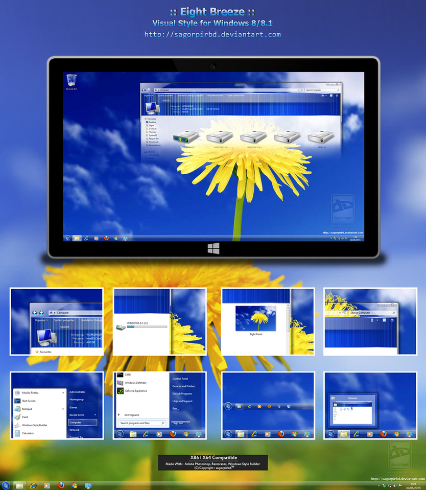 Eight Breeze theme for Win8/8.1