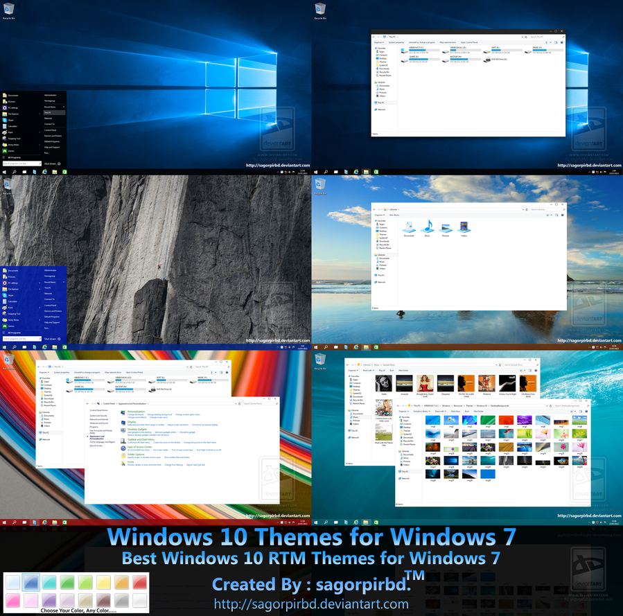 windows 10 rtm themes for win 7 final by sagorpirbd on deviantart