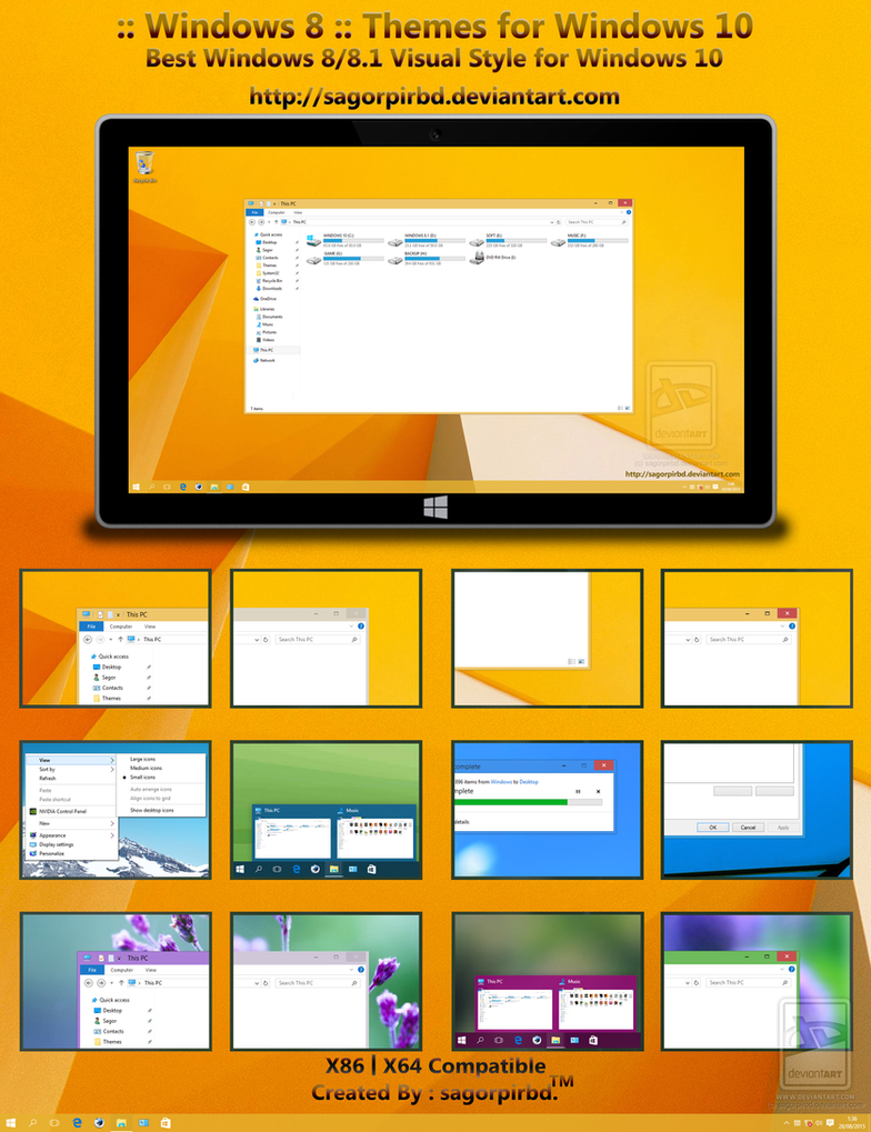 Windows 8 themes for win10 final by sagorpirbd on deviantart for Window 07 themes