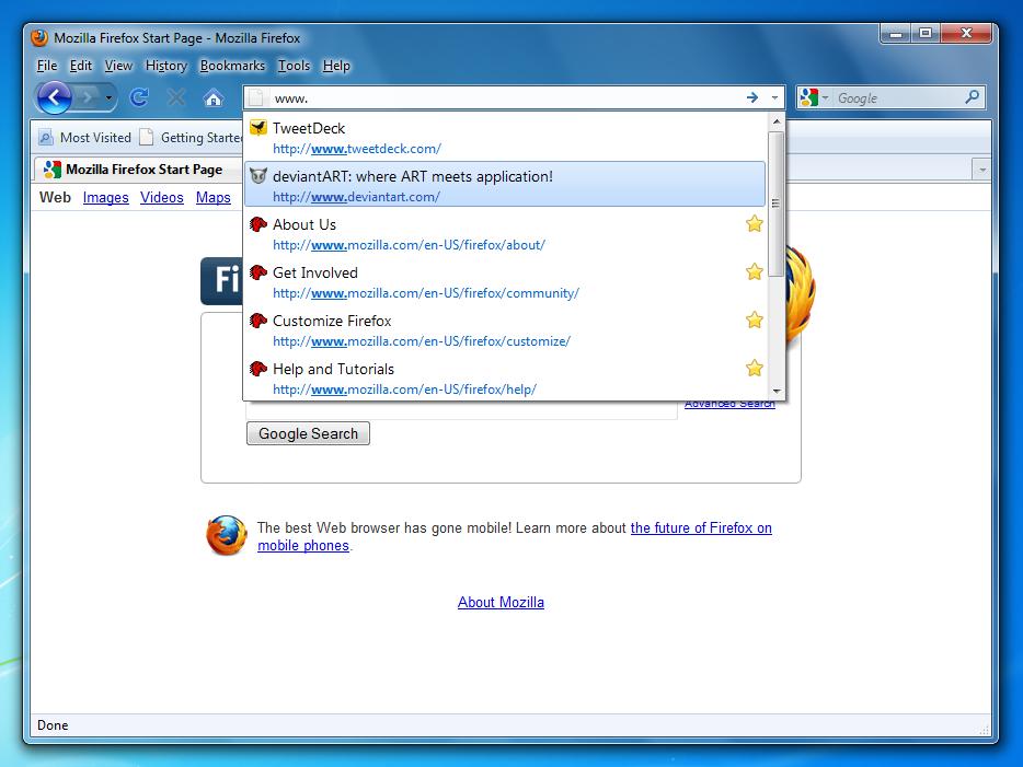 Firefox 3.6 Windows 7 Style by sibbl
