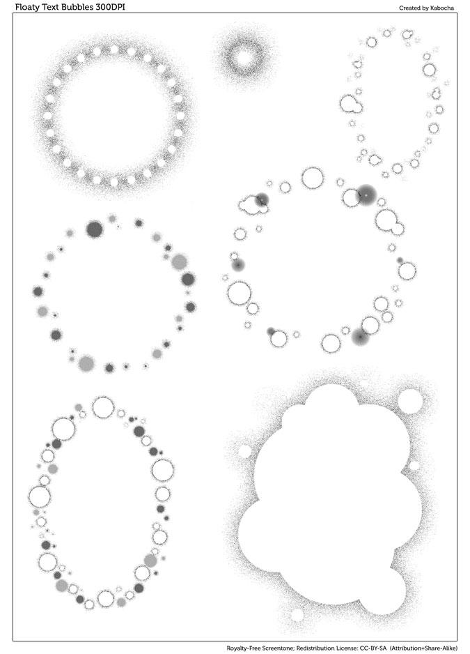 Floaty Text Bubbles (Screentone) by kabocha