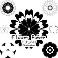 Flower Power Brushes by kabocha