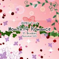 Monthly Romance Brushes by kabocha