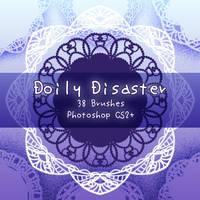 Doily Disaster Brushes by kabocha