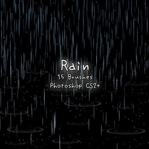Rain Brushes by kabocha