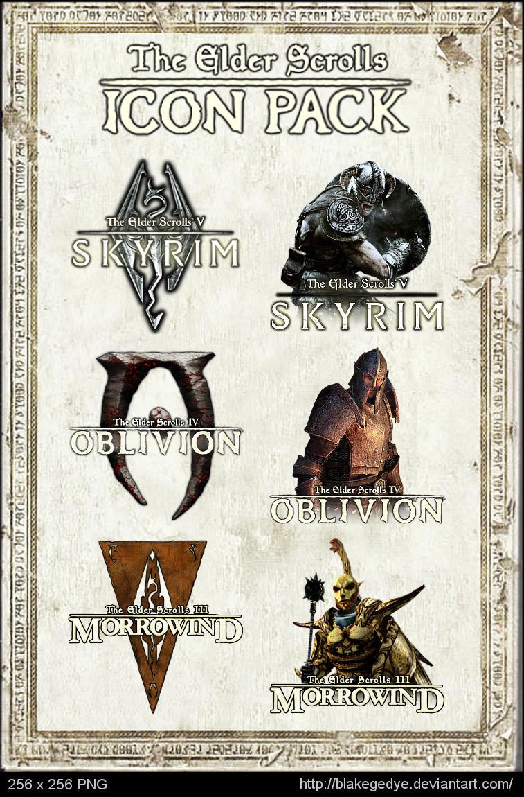 The Elder Scrolls - Icon Pack by blakegedye