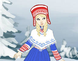 Folkloric Dress Up Doll Game by brusierkee