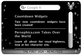The First Sign RSS Mac Widget by missmarypotter
