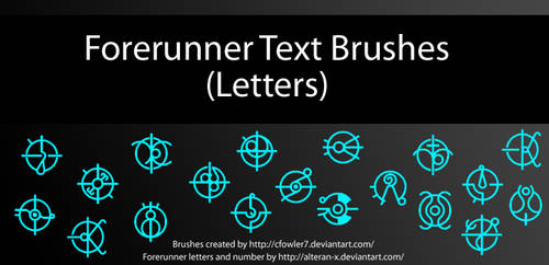 Brushes - Halo Forerunner Text 'Letters' by cfowler7-SFM