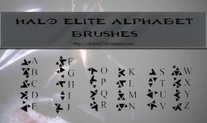 Brushes - Halo Elite Alphabet