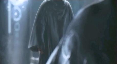 Gif: FFvsXIII Noctis vs Hooded character by Drekrief