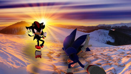 Sonic vs Shadow Cold War by Pawnkracker