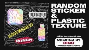 Random Sticker and Plastic Texture by Bino