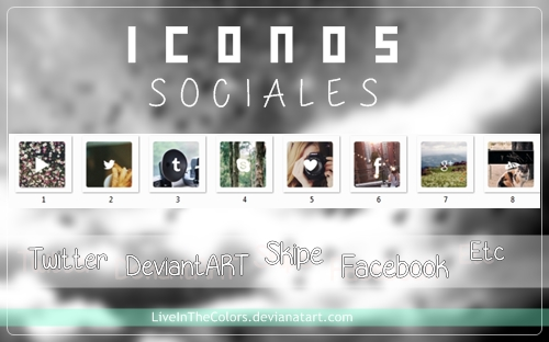 IconosSociales by LiveInTheColors