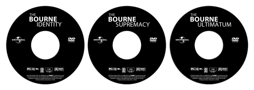 the bourne trilogy dvd labels lightscribe by macleodmac on deviantart